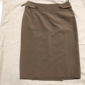 INC pencil skirt chocolate size 6